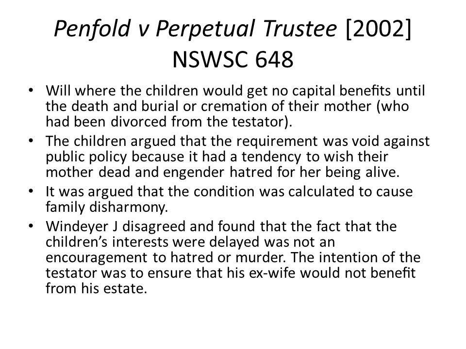 Penfold v Perpetual Trustee [2002] NSWSC 648